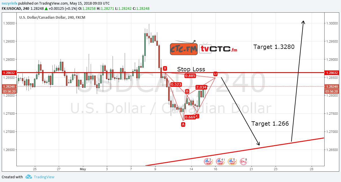 USD/CAD Possible Bearish Bat